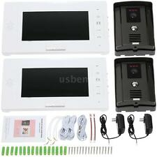 "Hot 7""LCD Color Video Door Phone Doorbell Home Intercom System Touch Key G1F0"