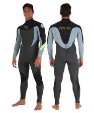 2016 Rip Curl Dawn Patrol Back Zip Mens Wetsuit 3 x 2 MM Black Grey Yellow