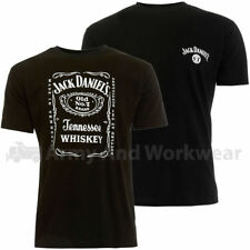 Mens Jack Daniels T-shirt Official Classic Printed Logo Whiskey Black