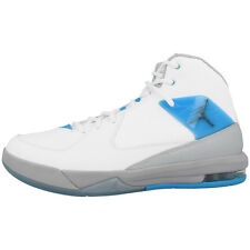 NIKE JORDAN AIR PLAN INCLINÉ CHAUSSURES DE BASKET-BALL HIGH SNEAKER BLANC BLEU