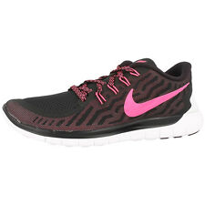 NIKE FREE 5.0 WOMEN'S SHOES RUNNING SHOES BLACK PINK 724383-006 RUN