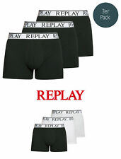Replay 3er Pack Cotton Stretch Shorts 3Pack Boxer Brief, S-XXL - Farbenauswahl