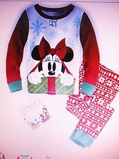 NEW Disney Minnie Mouse Holiday Pajamas PJ PALS for Girls Size 2 3 4 5 Christmas