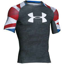 UNDER ARMOUR UK PRIDE HEATGEAR COMPRESSION SHORT SLEEVE TEE T-SHIRT 1274005-008