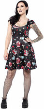 Sourpuss DIAMONDS ARE FOREVER Oldschool Tattoo Skater KLEID Rockabilly