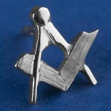 Masonic lapel pin SQUARE and COMPASS 2nd degree silver