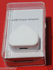 USB AC Wall Charger + Data Cable  for Apple iPhone 4 / 4S / 3G/ 3GS iPod UK Type