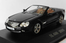 MERCEDES BENZ SL 600 R230 2003 M2 ROADSTER BLACK IXO ALTAYA 1/43 CONVERTIBLE