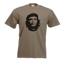 Che Guevara Revolutionary Socialist Jersey Khaki T-Shirt - All Sizes Available