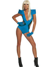 Lady gaga Sexy Blue Swim Suit Ladies Fancy Dress Celebrity Pop Star Costume New
