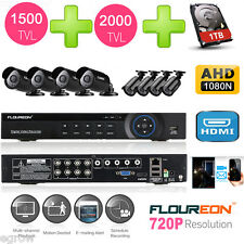 1TB HDD 8CH DVR AHD 1080N HDMI 1500TVL/2000TVL CCTV Camera Home Security System