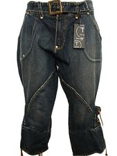 Jeans Capri donna TRY ME Firenze Tg. S M Denim Country Casual Pinocchietto New