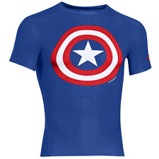 UNDER ARMOUR ALTER EGO COMPRESSION SHORT SLEEVE SHIRT CAP AMERICA 1244399-402
