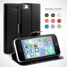 FLIP CASE COVER FOR IPHONE PHONE, FAUX LEATHER SLIM CASE COVER
