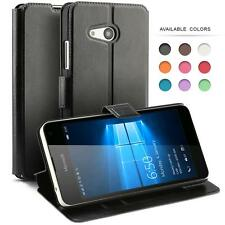 FAUX PU LEATHER FLIP CASE COVER FOR MICROSOFT NOKIA LUMISAPHONE MODELS