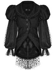 Punk Rave Pyon Lolita Jacket Black Rose Lace Puff Sleeve Gothic VTG Victorian