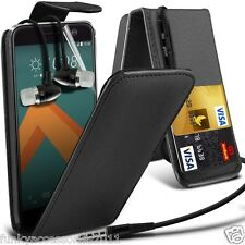 Top Flip PU Leather Phone Case✔In Ear Stereo Headset for HTC 10