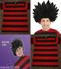 RED & BLACK STRIPE T-SHIRT, DENNIS THE MENACE, WIG, DRESS UP SET, COSTUME, PARTY