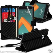 Leather Wallet Phone Case✔In Ear Stereo Headset Headphones for HTC 10