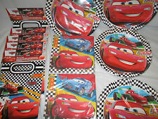 Disney Cars RSN Party Tableware Plates Napkins Loot bags & complete packs