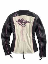 Harley Davidson Women's Pink Label Colorblocked Leather Jacket 97010-14VW 2XL