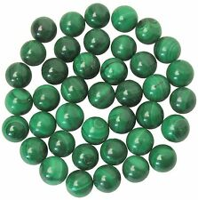 Polished Malachite Spheres - 40 pieces - 10mm - Bulk Lot