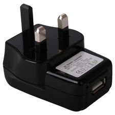 UK 3 PIN WALL PLUG USB PORT MAINS CHARGER ADAPTER ADAPTOR FOR YOUR MOBILE PHONE