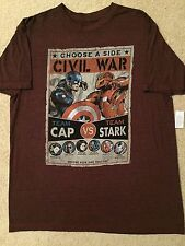 AVENGERS 2 3 CIVIL War  ENDGAME CAPTAIN America Iron Man movie New MEN'S T-Shirt
