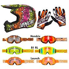 O'Neal 5 Series Vandal Orange Combo Set MX DH Helm Brille Handschuhe Moto Cross