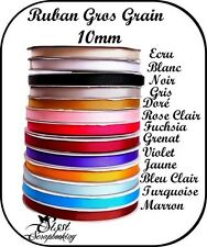 LOT 1M RUBAN GROS GRAIN UNI AU CHOIX SCRAPBOOKING SCRAP COUTURE CARTE BARRETTES