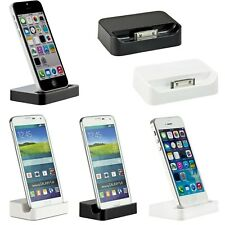 iPhone 6 5 5S 5C Dockingstation Ladestation Ladegerät  Dock USB Tisch Samsung S5