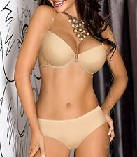 "AXAMI SET Pushup BH + String ""Basic Beige"" V-5790 Gr. 65 70 75 80 85 ABCDE SMLXL"