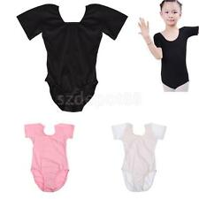 New Popular Girls Cotton Short Sleeve Leotards Stretchy Dance/Gym/Ballet Wear