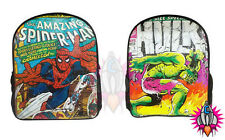 NEW OFFICIAL MARVEL COMICS VINTAGE SPIDERMAN HULK RUCKSACK BACKPACK SCHOOL BAG