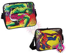 NEW MARVEL COMICS VINTAGE SPIDERMAN HULK MESSENGER SHOULDER SCHOOL SPORTS BAG