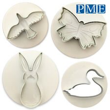 Icing Cutter for Animal Cakes - PME Butterfly Rabbit Duck & Bird for Sugarcraft