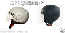 CASCO JET ONE MICRO NERO OPACO,Bianco perla estrabile PER MOTO SCOOTER XS XL