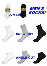 SOCKS ~ Lot of Men's Solid Sports No Show Ankle Crew BLACK GREY WHITE 9-11 10-13