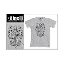 Cinelli Crest Grey Fixie Cycle Race Bike T-shirt