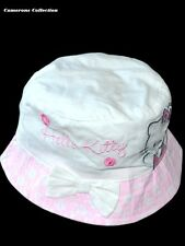 Toddler/Girls  HELLO KITTY - White & Pink Brim Summer Bucket Sun Hat  2-4 yrs