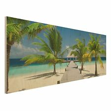 Holzbild Strand - Catwalk to Paradise - Panorama Quer