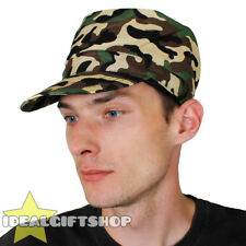 CLASSIC COMBAT ARMY HAT PATROL CAMO FANCY DRESS MILITARY STYLE CAMOUFLAGE CAP