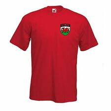 Wales Welsh Cymru Football Soccer National Team Leisure Red T-Shirt - All Sizes