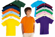 Kinder Fruit of the Loom Valueweight T-shirt, Kinder T-shirt 18 Farben