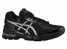 NEW MENS ASICS GEL-KAYANO 22 RUNNING SHOES TRAINERS ONYX / SILVER / CHA 4E XWIDE