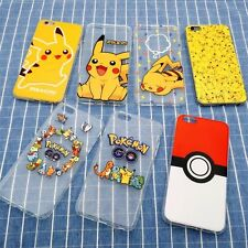 Cute Cartoon Pokemon Pikachu Soft phone Case Cover For iPhone 5 6s 6 7 Plus