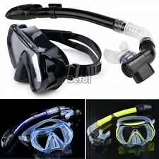 Scuba Diving Snorkeling Mask Dry Snorkel Water Sports Gear Combo Set New BF00
