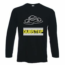 DUBSTEP DJ LONG SLEEVE T-SHIRT - Dub Step Rave Drum & Bass Techno -  S to XXL
