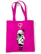 BANKSY THINK TANK TOTE  SHOULDER BAG - Urban Blur Shopping - Choice Of Colours