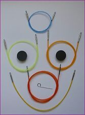 KNITPRO Interchangeable Coloured Needle Cable ~ Choose Size
